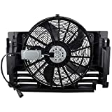 BOXI A/C Condenser Cooling Fan Assembly Compatible with BMW E53 X5 2000 2001 2002 2003 2004 2005 2006 BMW X5 OE# 64546921381 BM3020102
