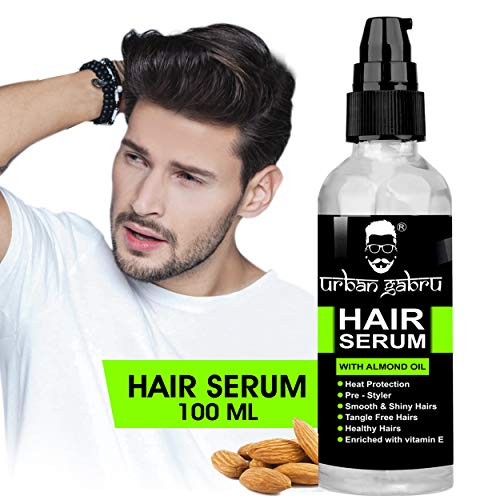 UrbanGabru Hair Serum for Men & Women - 100 ml - Heat Protectant - Pre Styler - Conditioner