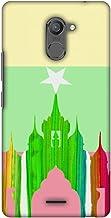 AMZER Slim Designer Snap On Hard Shell Case for Infinix Hot 4 Pro - Ananda Temple- Myanmar Flag