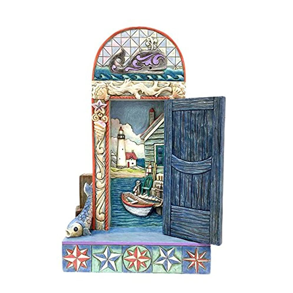 分子主流お母さんEnesco - Coastal Door with Boat Scene