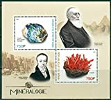 Benin 2017 miniature sheet Mineralogy- Science 2 values Scientists Minerals james smithson MNH JandRStamps
