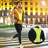 Seacanl Chaleco para Correr Reflectante de Noche con Cintura Ajustable Transpirable, Chaleco Reflectante, para Exteriores