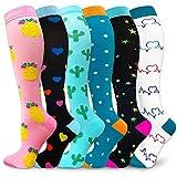 Compression Socks Women & Men 20-30 mmHg (3/6 Pairs), Best Athletic & Medical Running Flight Travel Pregnant