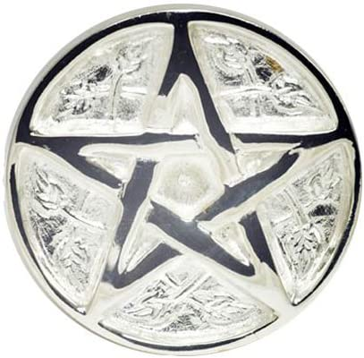 wholesale New Age Imports, Inc. - Pentagram Altar Tile Solid high quality Brass with Silver Plating 2021 3-Inches Diameter. outlet online sale