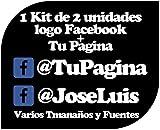 Pegatina Vinilo Personalizado con Perfil Pagina de Facebook - Casco, Coche, Moto, Bici, Tabla Skate, etc. Kit de 2 Pegatinas …