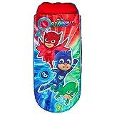 PJ Masks 406PJM Junior-ReadyBed – Kinder-Schlafsack und Luftbett in einem, Polyester, Mehrfarbig, 150x62x20 cm