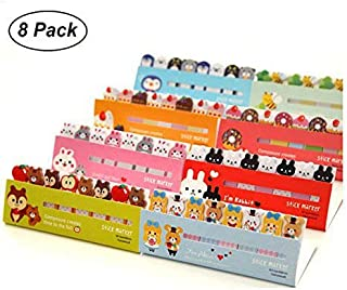 Pack of 8 Mini Cute Kawaii Cartoon Animals Cat Panda Memo Pad Sticky Notes Memo Notebook Stationery Note Paper Stickers School Supplies