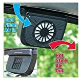 DR Mall Solar Powered Ventilation Exhaust Fan, Solar Powered Car Window Cool Air Vent Auto Fan