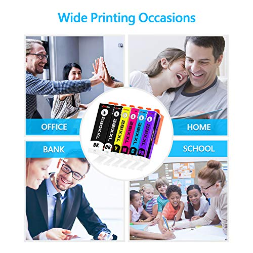 ONEINK Compatible Ink Cartridge Replacement for Canon 280 281 XXL PGI-280XXL CLI-281XXL PGI280 CLI281 for Printer PIXMA TS6120 TS6220 TS702 TR7520 TS8120 TS8220, 5 Packs(1PGBK, 1B, 1C, 1M, 1Y)… Photo #5