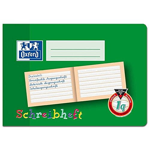 Oxford 311501601/100050101 Schreiblernheft, DIN A5 quer, 90 g/qm