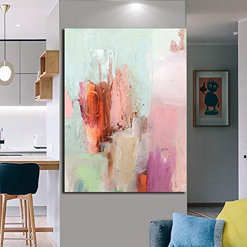 BailongXiao Drucken Sie abstrakte Ölgemälde in High Definition auf Leinwand und drucken Sie Wohnaccessoires im Wohnzimmer,Rahmenlose Malerei,30x45cm