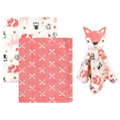 Hudson Baby - Manta de peluche unisex con manta de seguridad, diseño de zorro, talla única