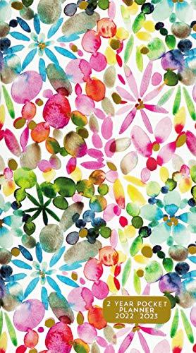2022-23 Watercolor Garden 2-Year Pocket Planner (24-Month Calendar)