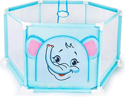 WJSW Kids Activity Centre Playpens for Babies Baby Ball Pits Indoor Playground Protective Playmats 65cm Safety Height Blue Fence