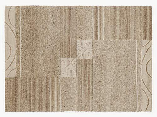 PERSEUS DESIGN handgeknüpfter Nepal Teppich Wolle in braun-mix, Größe: 120x180 cm