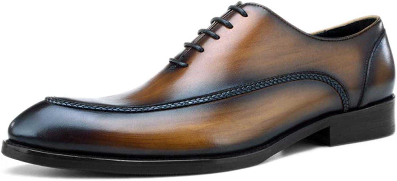 Manliga läderskor läderskor läderskor Lace -ups Classic Office läder Tip Business Dress skor Top Layer Cowhide  försäljning