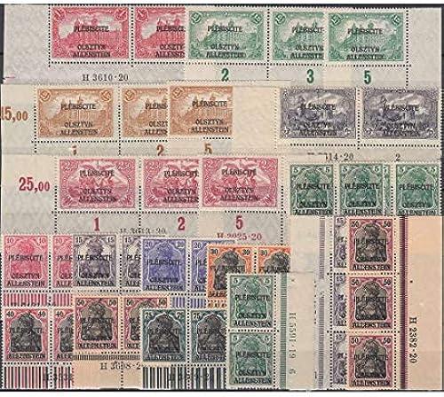 Goldhahn Allenstein Nr. 1-14 HAN ohne Nr. 4 postfrisch  20 Werte mit Hausauftragsnr. Briefmarken für Sammler