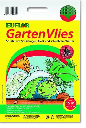 Euflor 90911 Gartenvlies 15 m² 10 m x 1,5 m UV-stabil