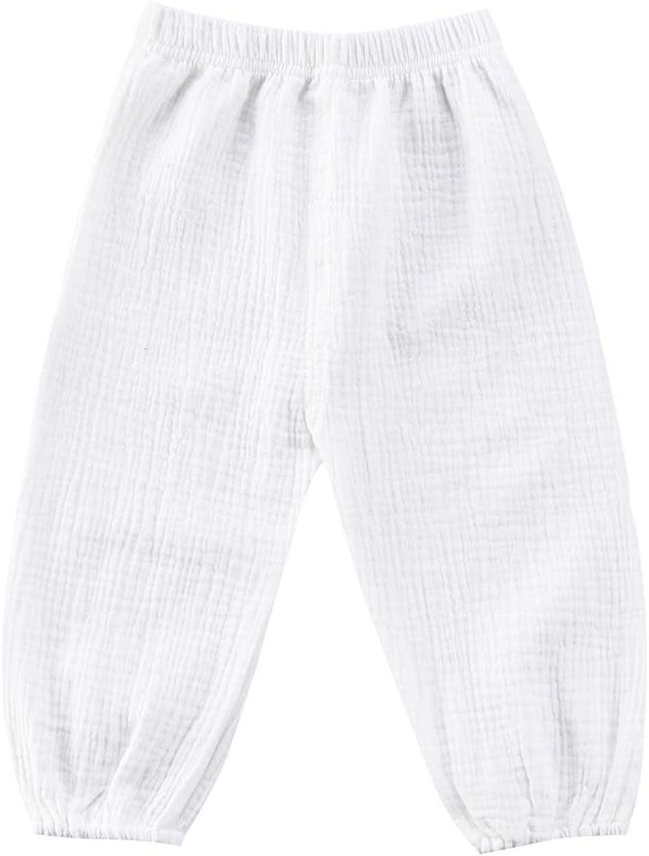 Vohawsa Toddler Baby Girl Boy Cotton free Linen L Trousers Long Cheap mail order sales Pants