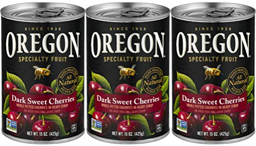 Amazon Com Oregon Specialty Fruit Dark Sweet Cherries Pitted All Natural 15 Ounces 3 Pack Grocery Gourmet Food