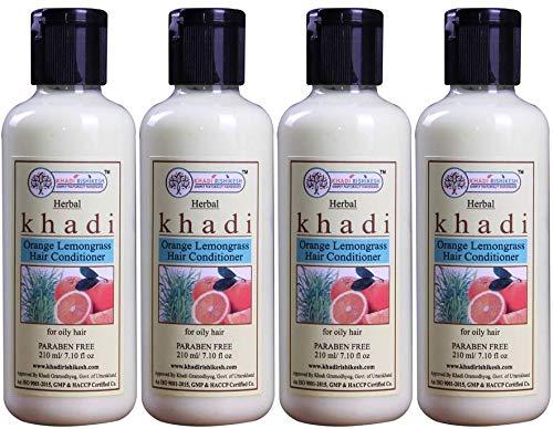 Glamorous Hub Khadi Rishikesh Herbal Orange Lemongrass - Juego de acondicionador para el cabello, paquete de 210 ml x 4 (840 ml) (el embalaje puede variar)