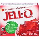 Jell-O - Postre de Gelatina Fresa y Plátano 'Gelatin Dessert Strawberry Banana ' - 1 x 85g