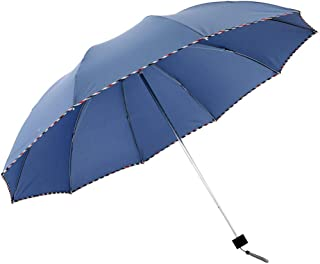Paraguas, Paraguas Sunny Business de 3 pliegues, Recubrimiento de teflón, Refuerzo mejorado, Fuerte repelente al agua, Paraguas portátil de secado rápido, Mango antideslizante, Fácil de llevar
