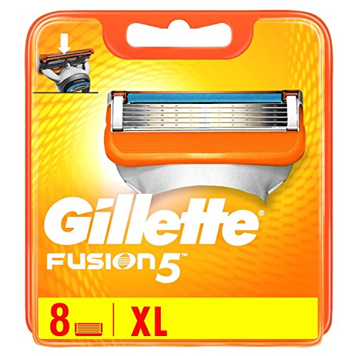 8 cuchillas de afeitar Gillette Fusion5, Fusion Power, ProGlide o Fusion5 Proglide Power.