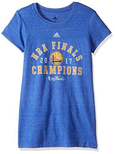 adidas NBA Finals de la Mujer Retro diseño Too Camiseta de Manga Cap, Mujer, NBA Finals Retro Champs Too Cap Sleeve tee, Azul
