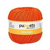 Puppets Eldorado Stärke 10 4574010-07329 orange Häkelgarn, 100% Baumwolle
