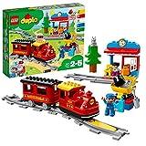 LEGO 10874 DUPLO Dampfeisenbahn, Spielzeugeisenbahn mit Licht & Geräuschen für Kleinkinder, batteriebetriebenes Push & Go Spielzeug für Kinder im Alter von 2...