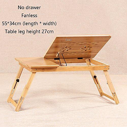 XIA Étudiant Table Dissipation de la chaleur Table d'étude de bureau en bois massif Aucun tiroir Fanless 50 * 30 cm 55 * 34 cm 72 * 34 cm utilisation pliable de lit recevant le bureau de Zhuo