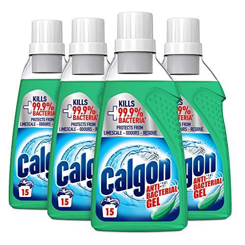 Calgon 3-in-1 Antibacterial Washing Machine Water Softener Gel, Pack of 4 x 750ml