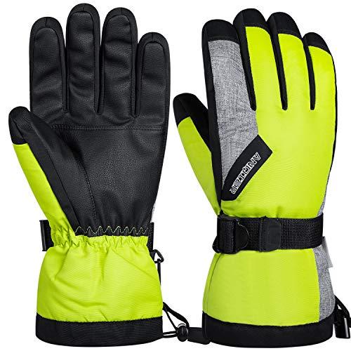guanti sci coskefy Guanti Sci Uomo Donna Guanti Invernali Impermeabili Guanti Neve Termico Antivento Sottoguanti Sci Moto con 3M Thinsulate Isolation Ski Gloves