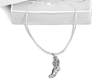 Fundraising For A Cause Winged Foot Necklace in a Gift Box