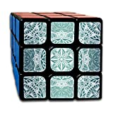 Rubiks Cube 3x3 Set。Bohemian Psychedelic Speed Cube Rubiks Cube Original Mini Cube, Puzzle Party Toy。Best 3x3 Puzzle Magic Toy - Turns Quicker Than Original