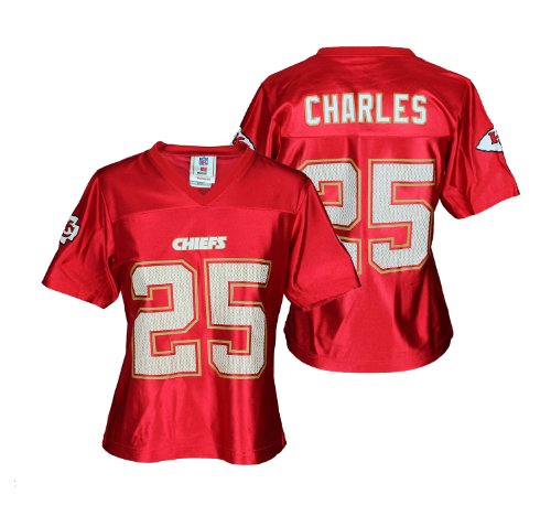 NFL Kansas City Chiefs Womens Dazzle Jamaal Charles #25 Jersey, Red
