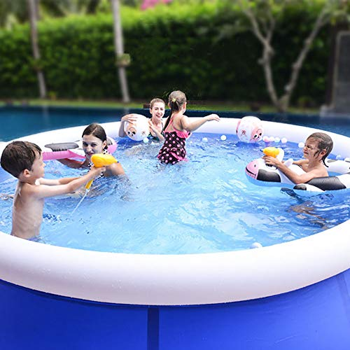 TTYUIO Aufblasbarer Lounge-Pool Riesige Runde, Swimmingpool für Familienhausgarten, Planschbecken Outdoor Fun Patio Decking Beach (180 * 51cm)