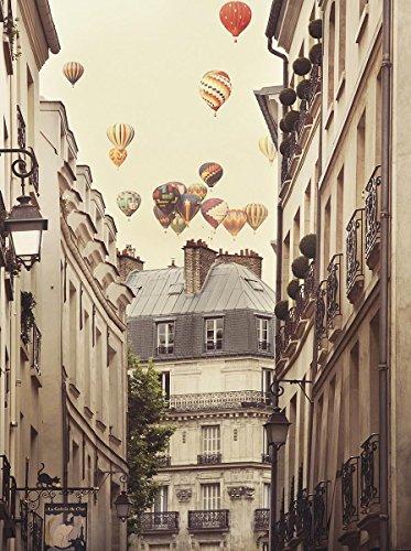 Close Up Flying Over Paris Kunstdruck Irene Suchocki (46cm x 60cm)