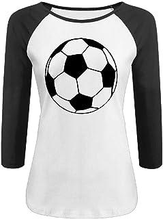 DFGHJZH-L Soccer Ball Womens Cool Adult Long Sleeve T-Shirt