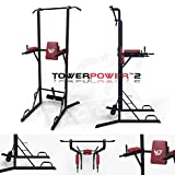 We R Sports Chin Up Pull Up Sit ups Power Tower Vertical Knee Raise Dip Station Workout Bar