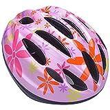 YRINA 子供用 ヘルメット 自転車 キッズ プロテクター セット or 単品 軽量 サイズ調整可 男の子 女の子 サイクリング (15.レッドの花単品(Mサイズ))