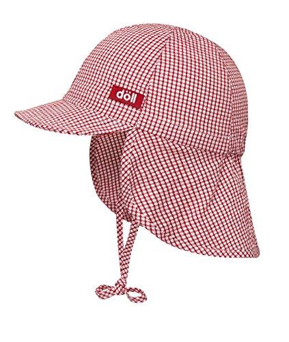 Döll Unisex - Baby Bindemütze mit Nackenschutz 001666941, Rot (chinese Red 2000), 49