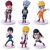 MNZBZ 6pcs / Set Naruto Anime Peripheral 2021 Generation 6 Doll Toy Decoration Plastic PVC 9-12cm Ca...