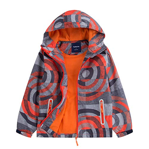Gogokids - Giacca da sci invernale per bambini e ragazze, impermeabile, con cappuccio e fodera in pile, 120 cm