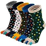 PUTUO Calcetines Dedos Hombres Running Calcetines de Deportes de Algodón, Hombres Cinco Calcetines...