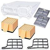 SPARSET - 12 Staubsaugerbeutel Microvlies passend für Vorwerk - Kobold 135 136 135SC + 2 Hepafilter + 2 Motorschutzfilter + 12 x Duft - Bestleistung beim Saugen - Hochwertige Qualität