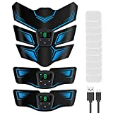 EMS 腹筋ベルト 腹筋マシン 腕筋 腹筋トレーニング ダイエット器具 9段階 6つモード 液晶表示 USB充電式 日本語説明書