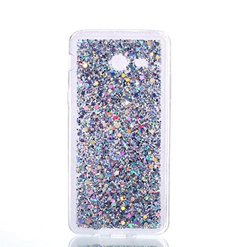 Samsung Galaxy J7 (2017) Funda,MUTOUREN TPU Silicona Carcasa Case Bumper con Absorción de Impactos Espalda Cover para Samsung Galaxy J7 (2017) - Plata