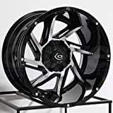 Vision 422 Prowler Gloss Black Machined Face Wheel with Machined Finish (20x12'/6x135mm)